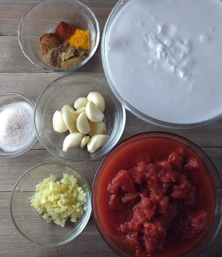 ingredients for beef coconut milk curry