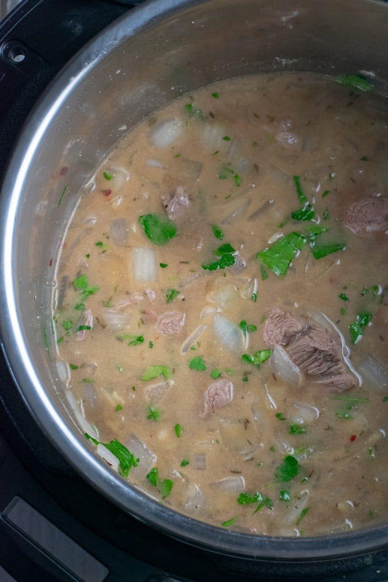 30 minute Instant Pot Beef Stroganoff in Instant Pot