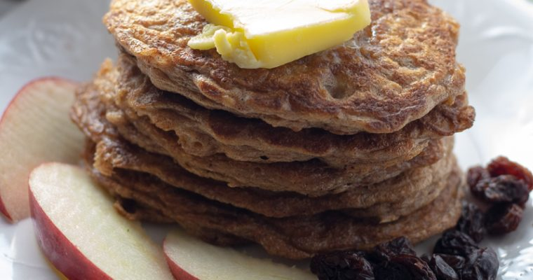 Flourless Oatmeal Coconut Milk Pancakes