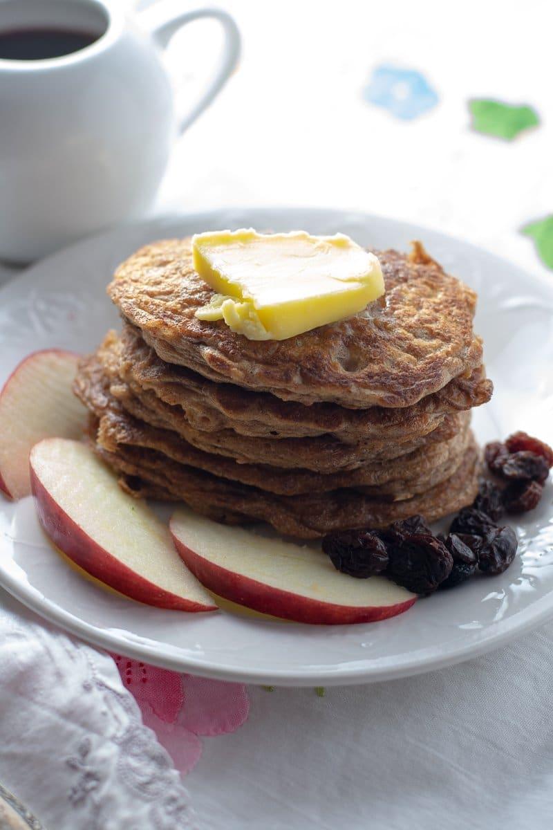 Flourless Oatmeal Coconut Milk Pancakes