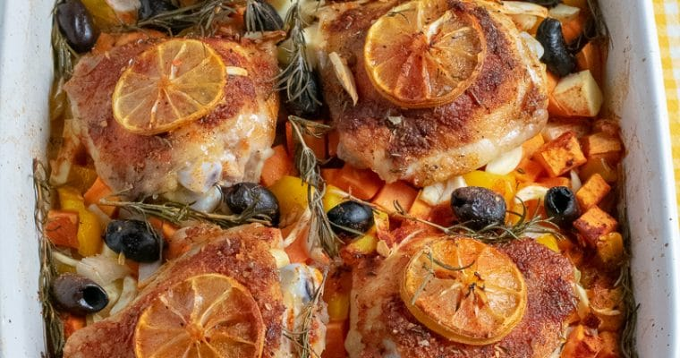 One-Pan Roasted Chicken with Vegetables