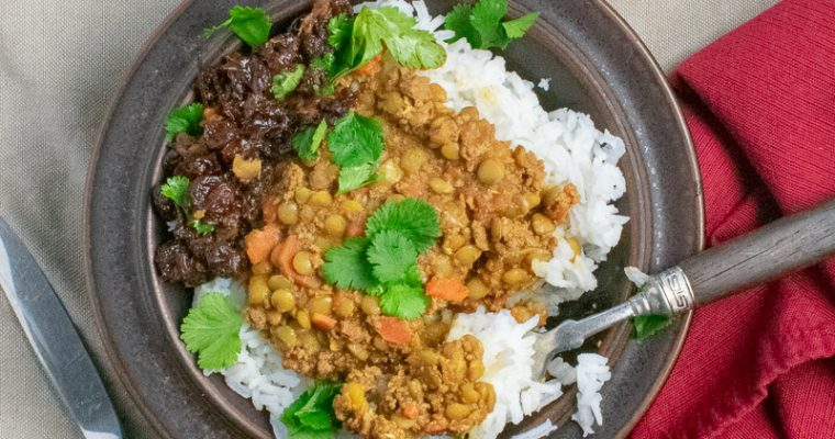 Spiced Beef-Lentil Stew