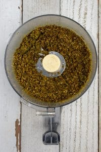 moringa-fruit-nut-ola blended in food processor