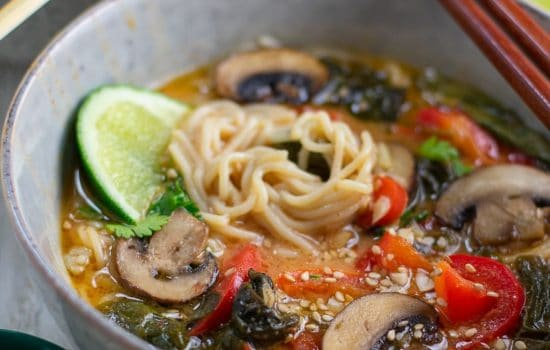 Thai Red Curry Ramen 2 Ways