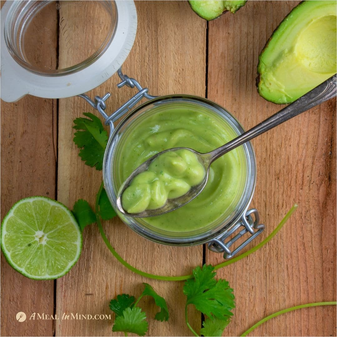 Creamy Avocado-Lime Guac Dressing