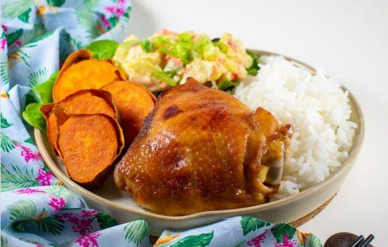 """Hawaii-style """"huli-huli"""" chicken thighs"""