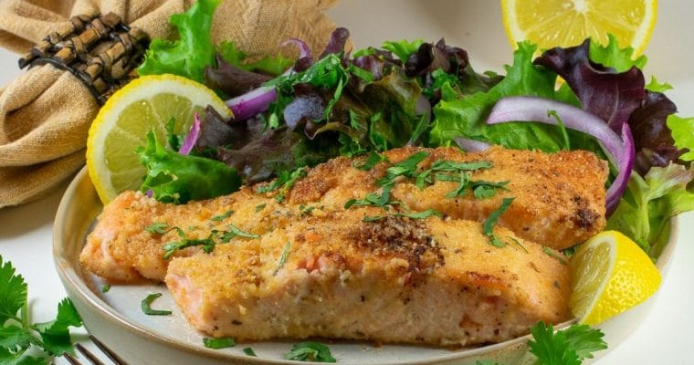 Almond Flour Crusted Salmon
