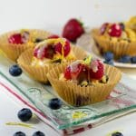 delicious blueberry lemon almond flour muffins