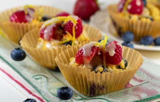 Blueberry Lemon Almond-Flour Muffins