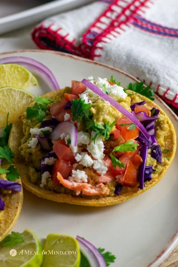 Delicious almond-crusted steelhead tacos