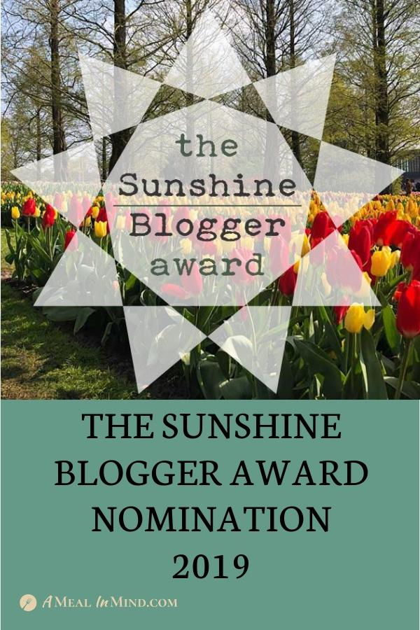 sunshine blogger award image for Pinterest