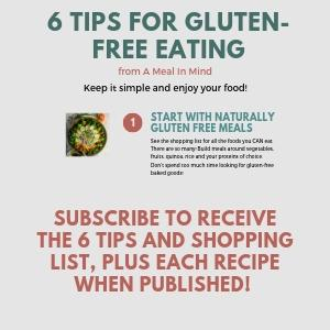 short graphic of 6 tips for gluten free eating