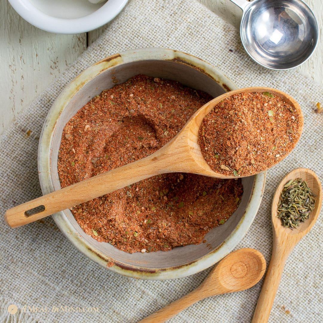 square image of cajun seasoning