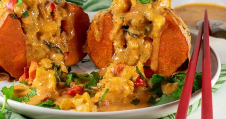 Massaman Curry-Stuffed Sweet Potatoes