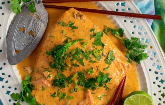 Easy Massaman Salmon or SteelheadCurry
