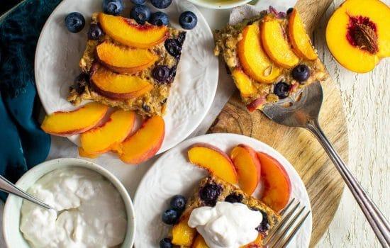 Peach Oatmeal Breakfast Clafoutis