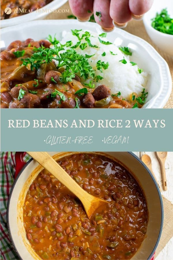 pinterest collage 3 of delicious red beans and rice 2 ways gluten free