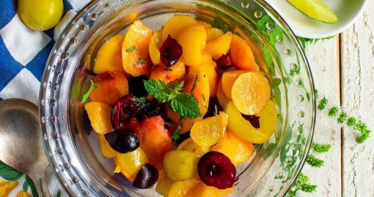 Stone Fruit Salad with Citrus Dressing