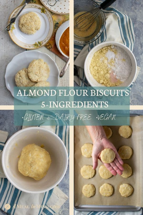 pinterest collage 1 of almond flour biscuits 5 ingredients