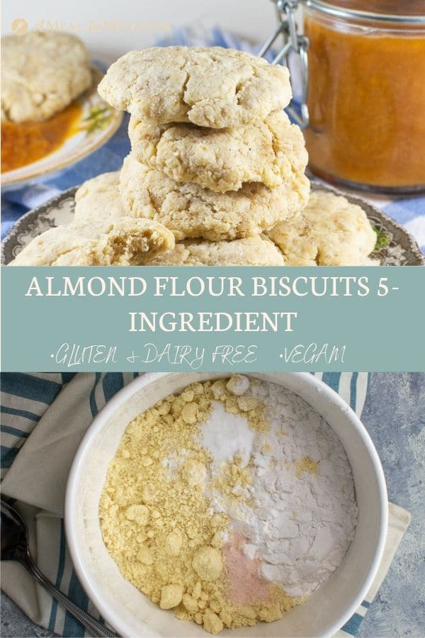 pinterest collage 3 of almond flour biscuits 5 ingredient