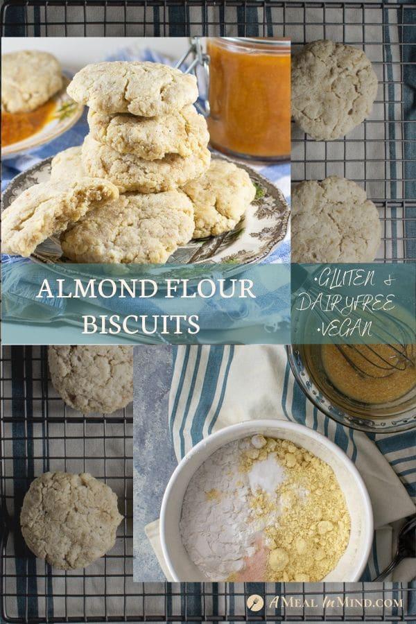 pinterest collage 2 of almond flour biscuits 5 ingredient