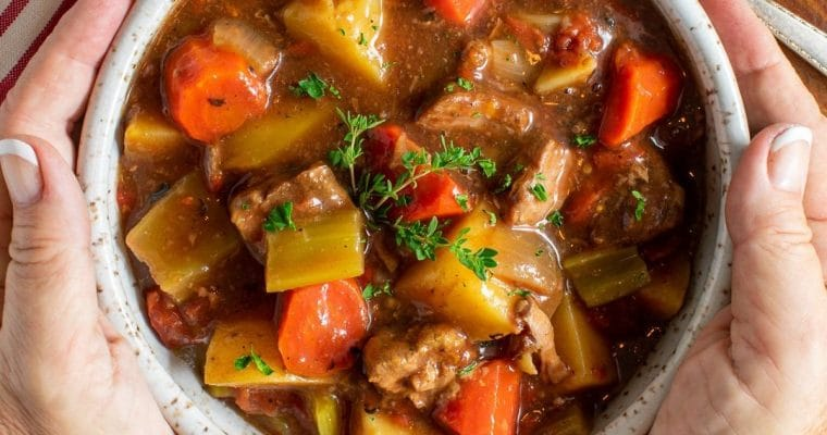 Old Fashioned Slow-Baked Beef Stew – Gluten-free