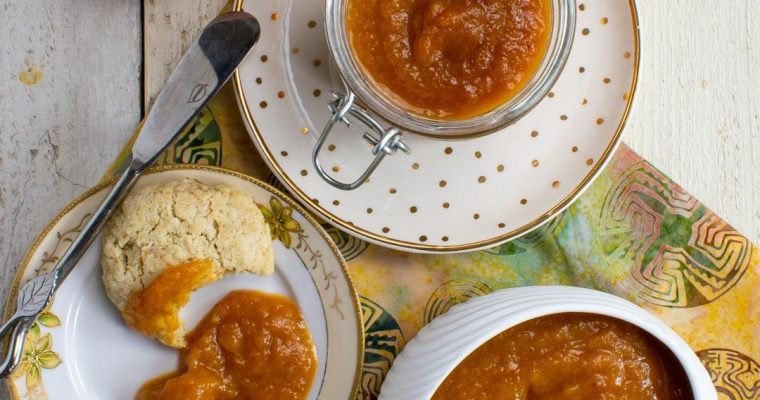Slow-Cooker Peach Butter – 3 ingredient