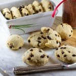 savory millet-currant biscuits on tray