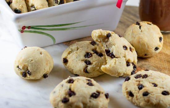 Millet-Currant Biscuits, GF and Vegan