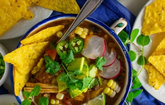 Roasted Hatch Green Chile Tortilla Soup