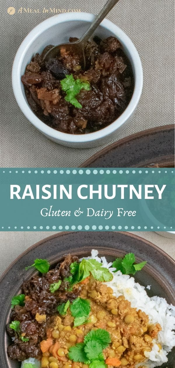 pinterest collage of raising chutney with lentil curry