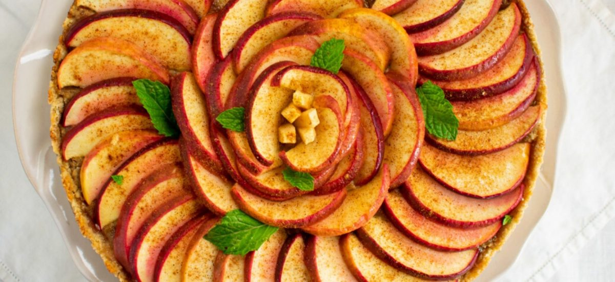 Apple Marzipan Tart with Almond Crust