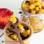 delicious easy apple chutney in hermetic jars