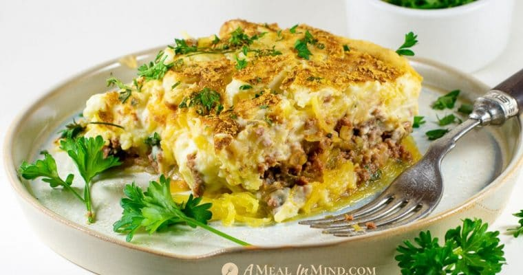 Spaghetti Squash Greek Pastitsio – Gluten and Dairy Free