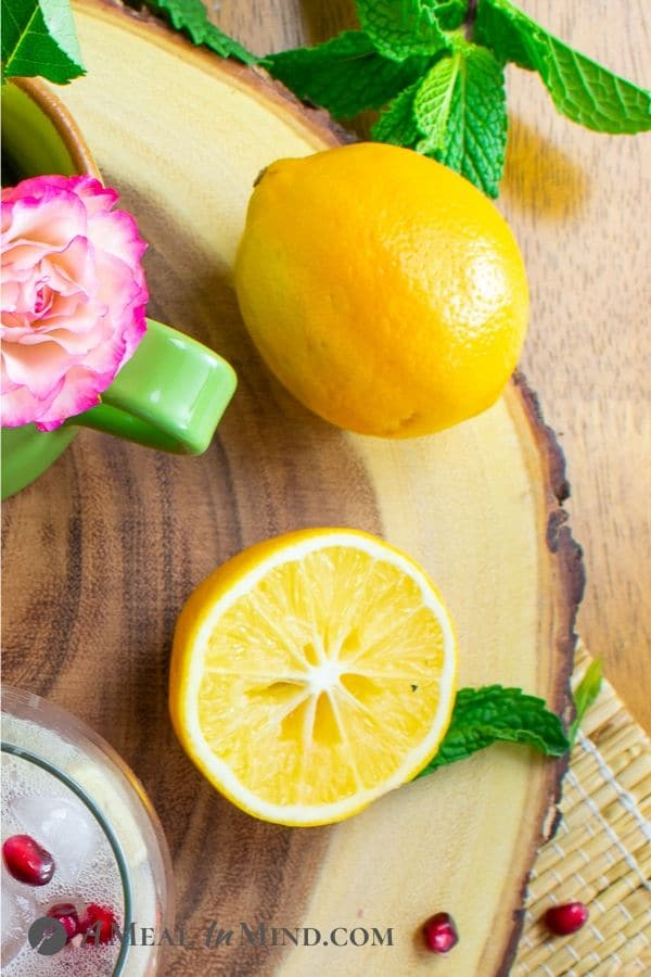 lemons for refreshing sparkling meyer lemon mocktail