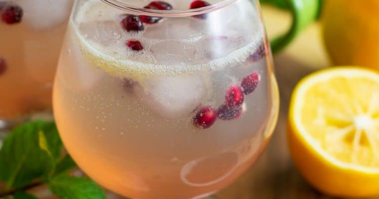 Sparkling Meyer Lemon Mocktail