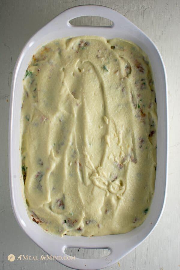 bechamel sauce for gluten-free spaghetti squash Greek pastitsio