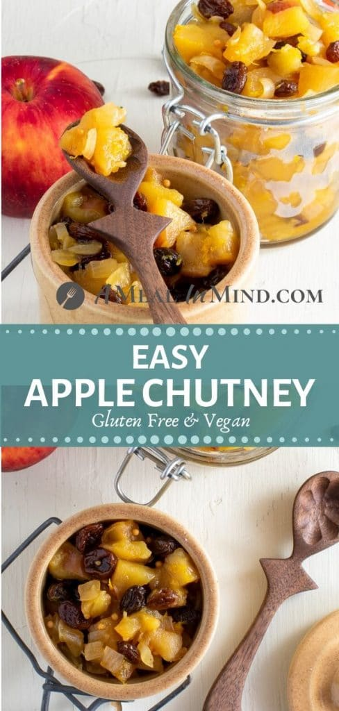 delicious easy apple chutney in hermetic jars pinterest tall collage