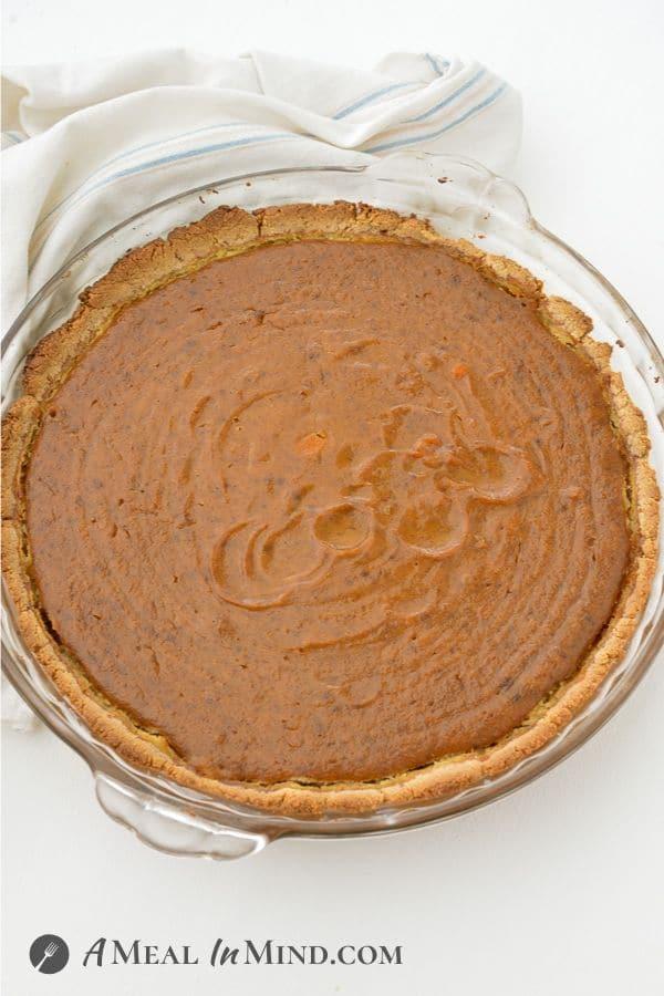delicious haupia pumpkin pie just before adding the haupia