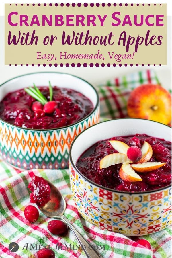 cranberry sauce with or without apples pinterest image