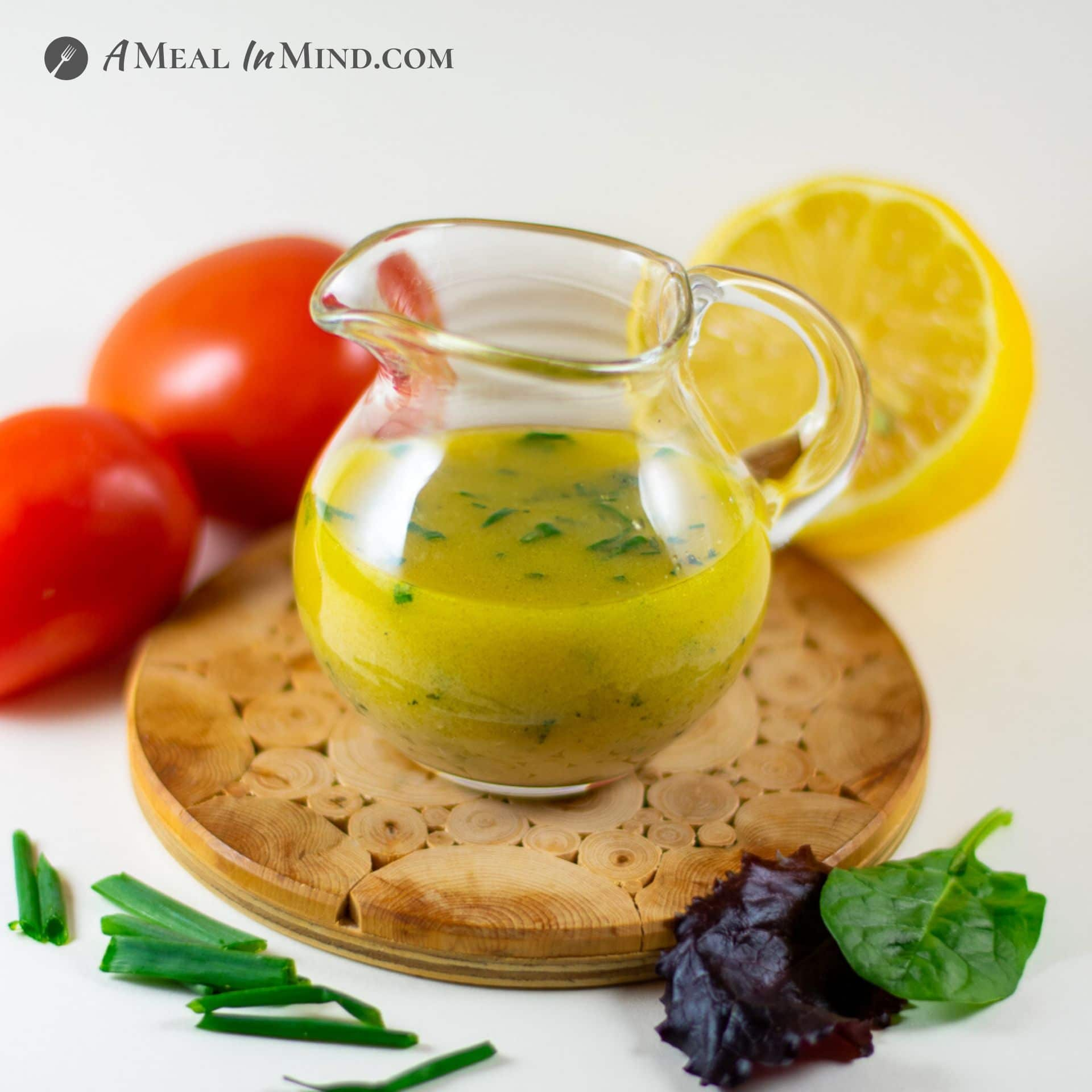 lemony garlic-mustard vinaigrette