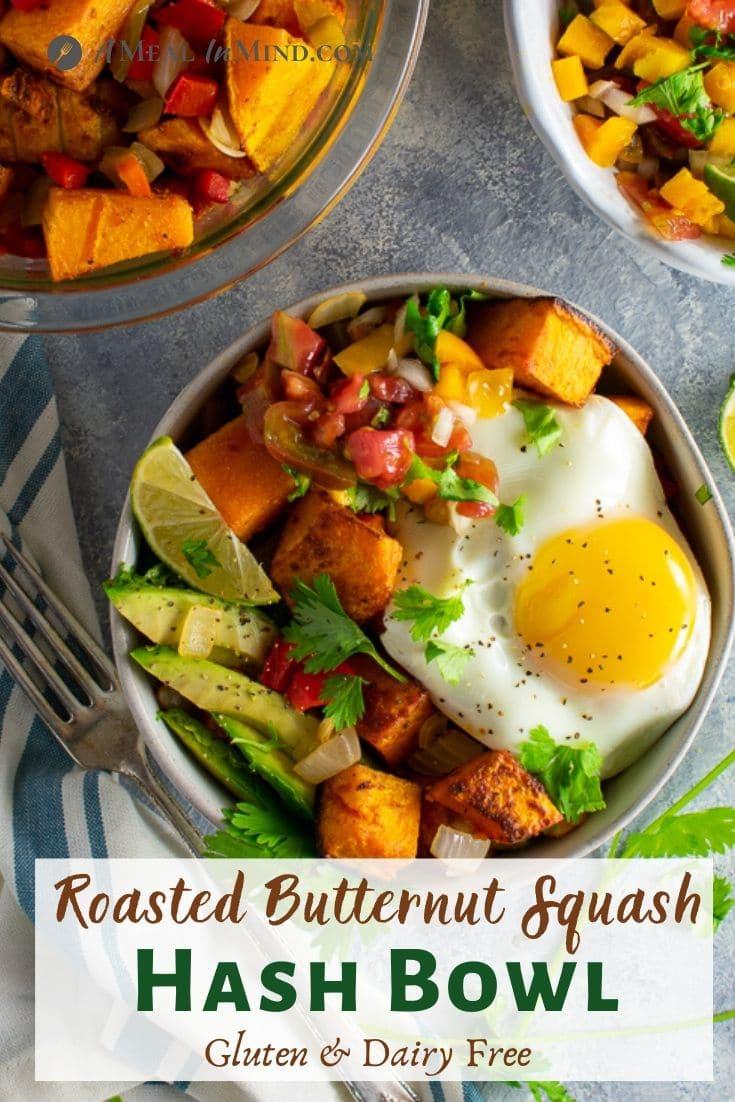 roasted butternut hash bowl pinterest image