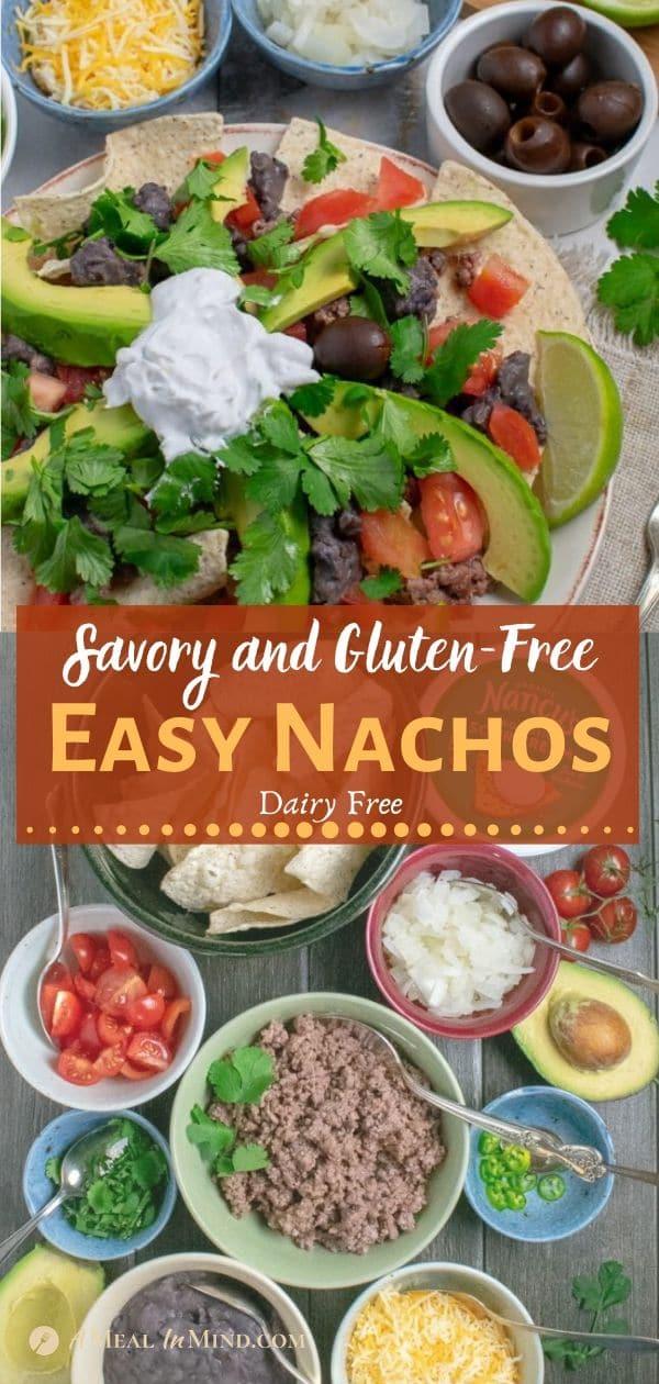 savory gluten-free nachos pinterest tall collage