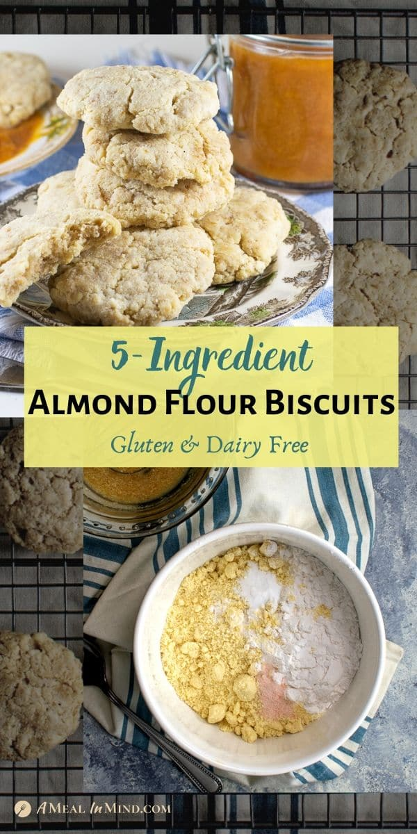 Almond Flour Biscuits - 5 ingredient piinterest collage