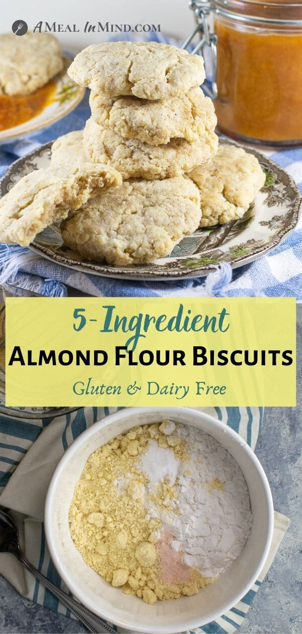 Almond Flour Biscuits - 5 ingredient pinterest collage