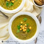 Cauliflower Wild Rice Curry Soup overhead view