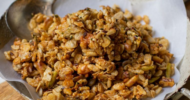 Flax-Hemp Granola with Rice Crisps