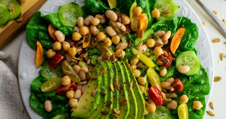 Marinated 2-Bean and Green Salad