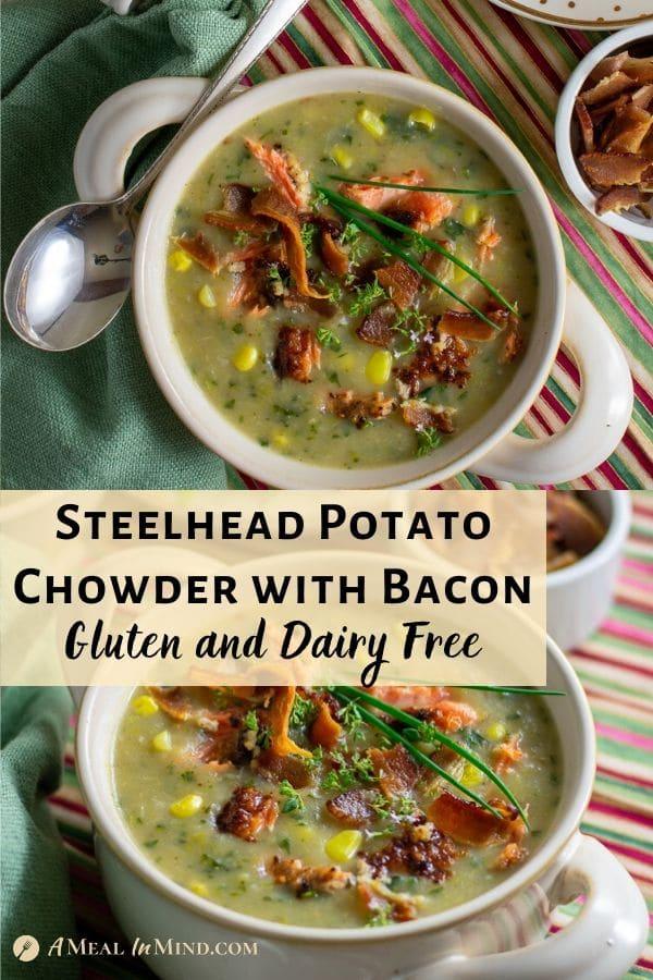 steelhead potato chowder with bacon pinterest images