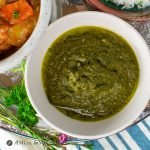 Instant Pot Swiss Chard Saag in white bowl